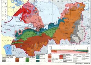 Карта дочетвертичных отложений Ленинградской области